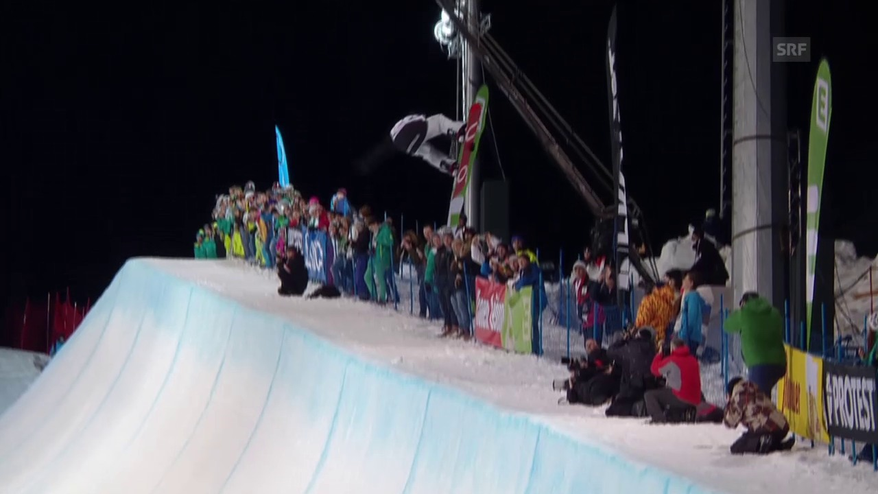 Snowboard: Freestyle-WM in Kreischberg, Final Halfpipe, Gold-Run James
