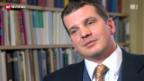 Video «Hermann Lei reagiert ungläubig auf den Rücktritt» abspielen