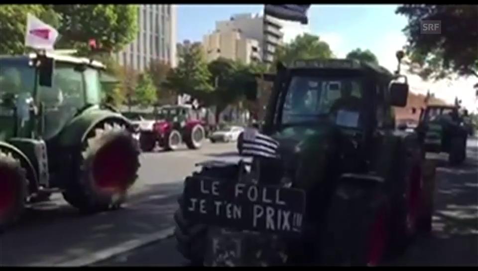 Traktor-Konvoi rollt nach Paris (unkommentiert)