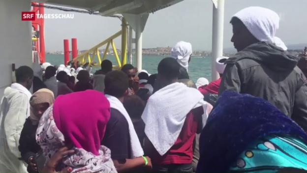 Video «Wieder Bootsunglück im Mittelmeer» abspielen