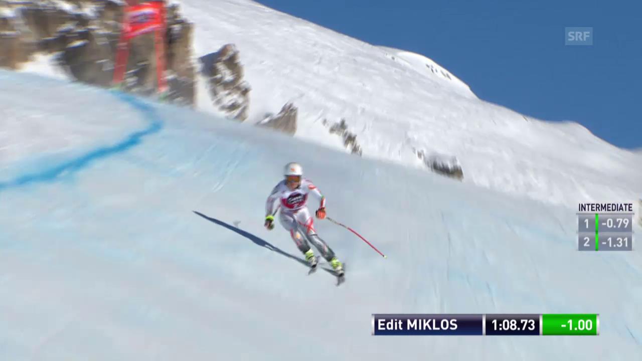 Ski alpin: Weltcup der Frauen, Abfahrt in St. Moritz, Edit Miklos