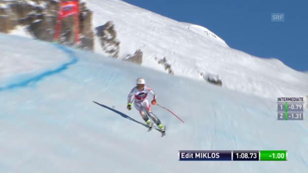 Video «Ski alpin: Weltcup der Frauen, Abfahrt in St. Moritz, Edit Miklos» abspielen