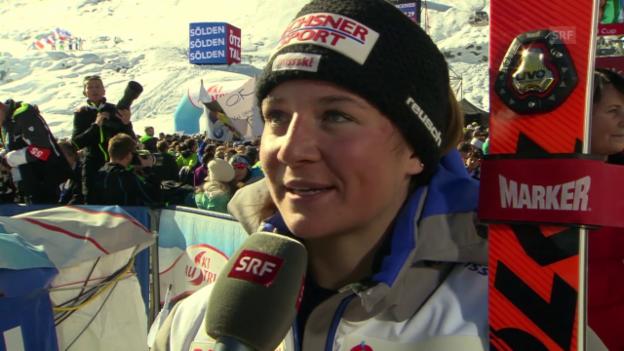 Video «Ski alpin: RS Sölden, Interview Suter und Holdener» abspielen