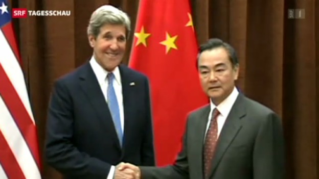 Video «US-Aussenminister Kerry in China» abspielen