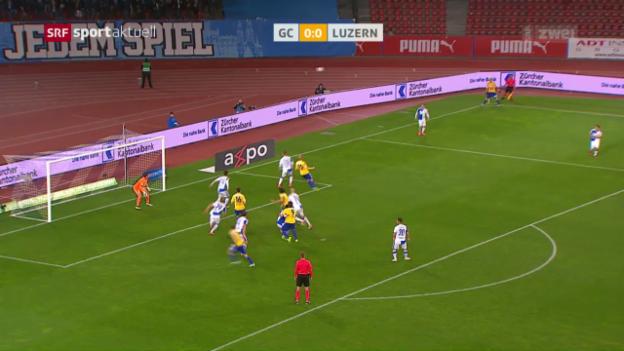 Video «GC und Luzern mit unterhaltsamem Remis» abspielen