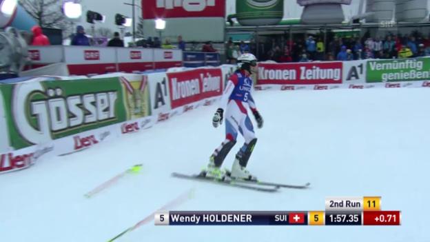 Video «Ski: Weltcup, Slalom Frauen Lienz» abspielen