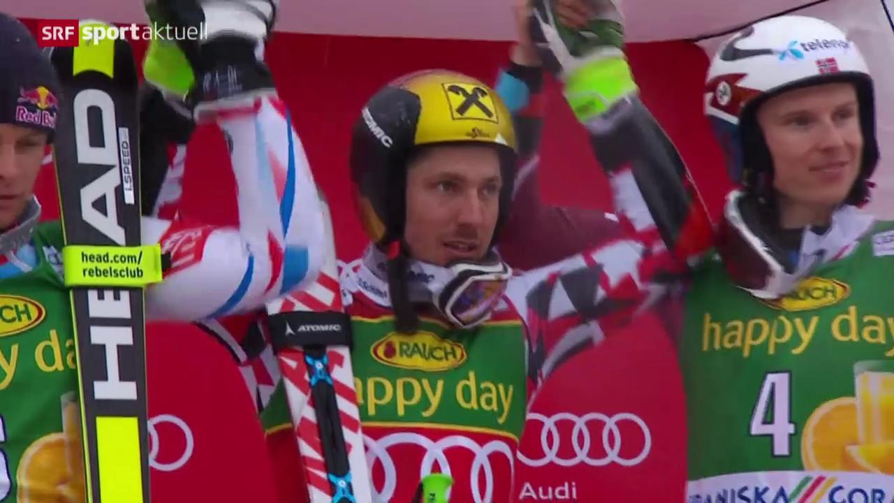 Totaler Triumph für Marcel Hirscher in Kranjska Gora