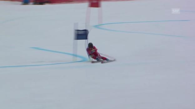 Video «Ski: Riesenslalom Frauen, 1. Lauf Suter (sotschi direkt, 18.2.2014)» abspielen