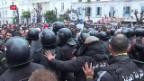 Video «Armuts-Proteste in Tunesien» abspielen