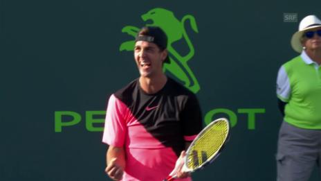 Link öffnet eine Lightbox. Video Frühes Out für Federer in Miami abspielen