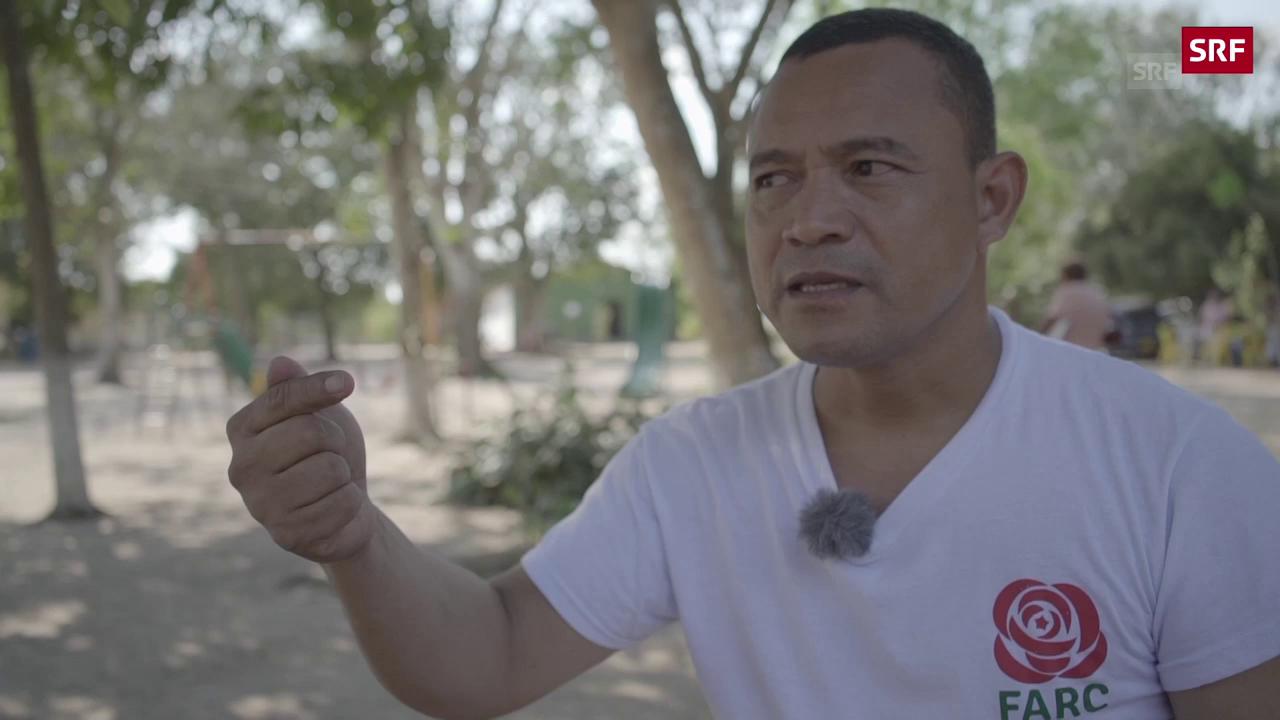Benedicto González war früher FARC-Kämpfer. Heute glaubt er an eine gewaltlose Lösung.