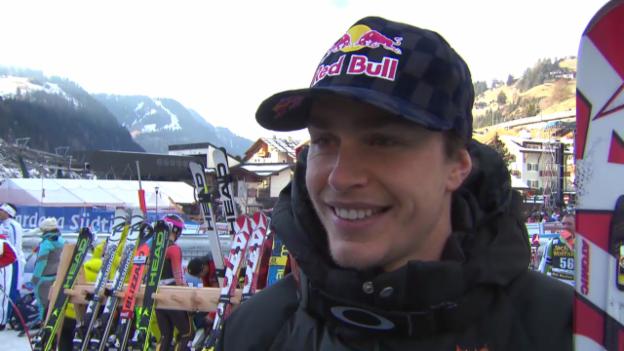 Video «Ski Alpin: Abfahrt Männer in Gröden, Interview mit Guay («sportlive», 21.12.2013)» abspielen