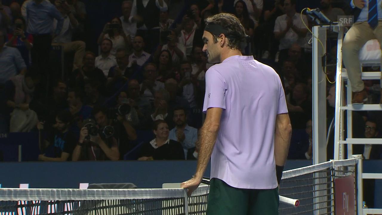 Federer lässt Paire in Basel keine Chance