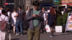 Video «FOKUS: Das Handy als Gefahr für Fussgänger» abspielen