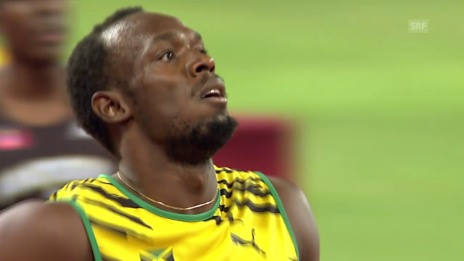 Video «Usain Bolt locker in den 200-m-Final» abspielen