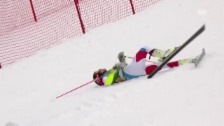 Video «Wendy Holdener stürzt im 2. Lauf des Riesenslaloms von Jasna» abspielen
