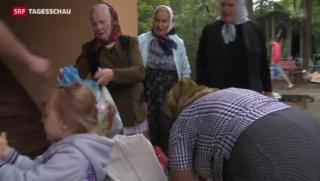 Video «Hunderttausende fliehen vor den Kämpfen in der Ostukraine» abspielen
