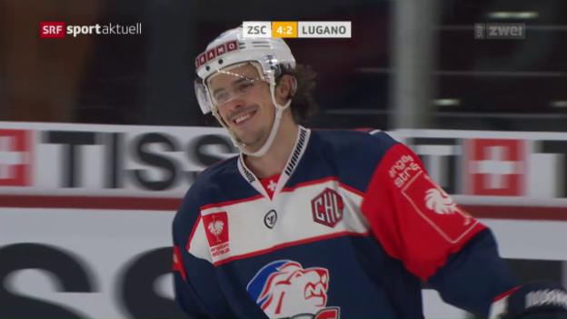 Video «ZSC gewinnt NLA-Duell gegen Lugano» abspielen