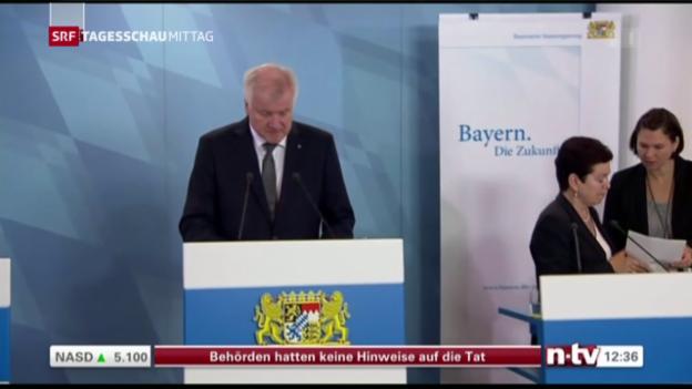 Video «Ministerpräsident Seehofer kondoliert Angehörigen» abspielen