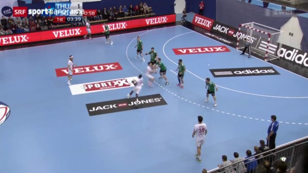 Video «Handball: CL, Wacker Thun - Paris SG» abspielen