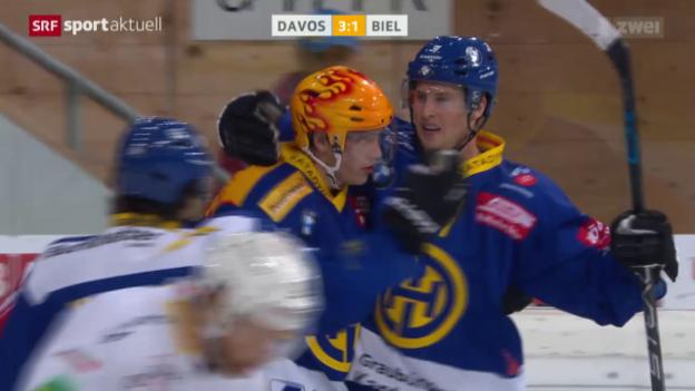 Video «Eishockey: Davos-Biel» abspielen