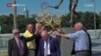 Video «Vor dem Viertelfinal: Federer im Rampenlicht» abspielen