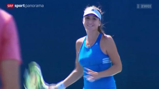 Video «Tennis: Belinda Bencic in New York» abspielen