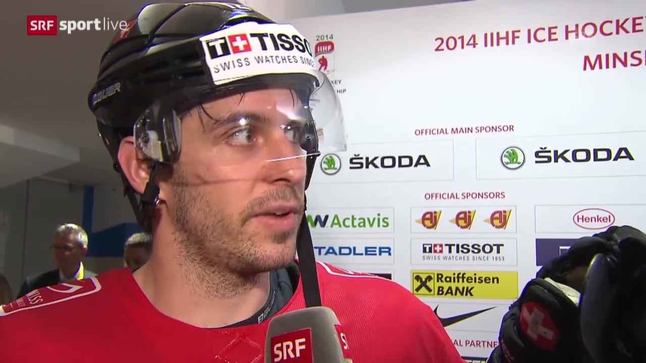 Eishockey: WM 2014, Schweiz - Deutschland, Interview mit Luca Cunti