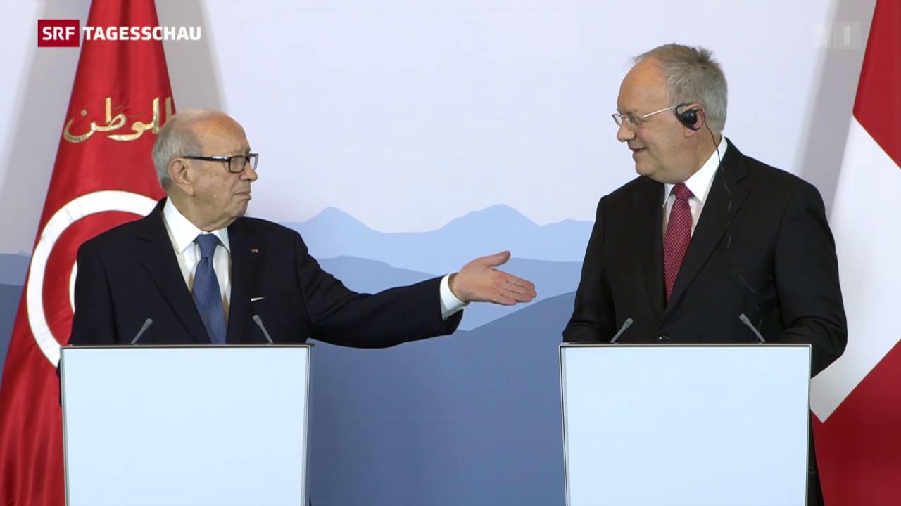Tunesiens Präsident in Bern empfangen