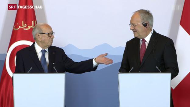 Video «Tunesiens Präsident in Bern empfangen» abspielen