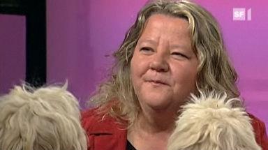 Tiertrainerin Tatjana Zimek stellt drei ihrer 120 Tiere vor