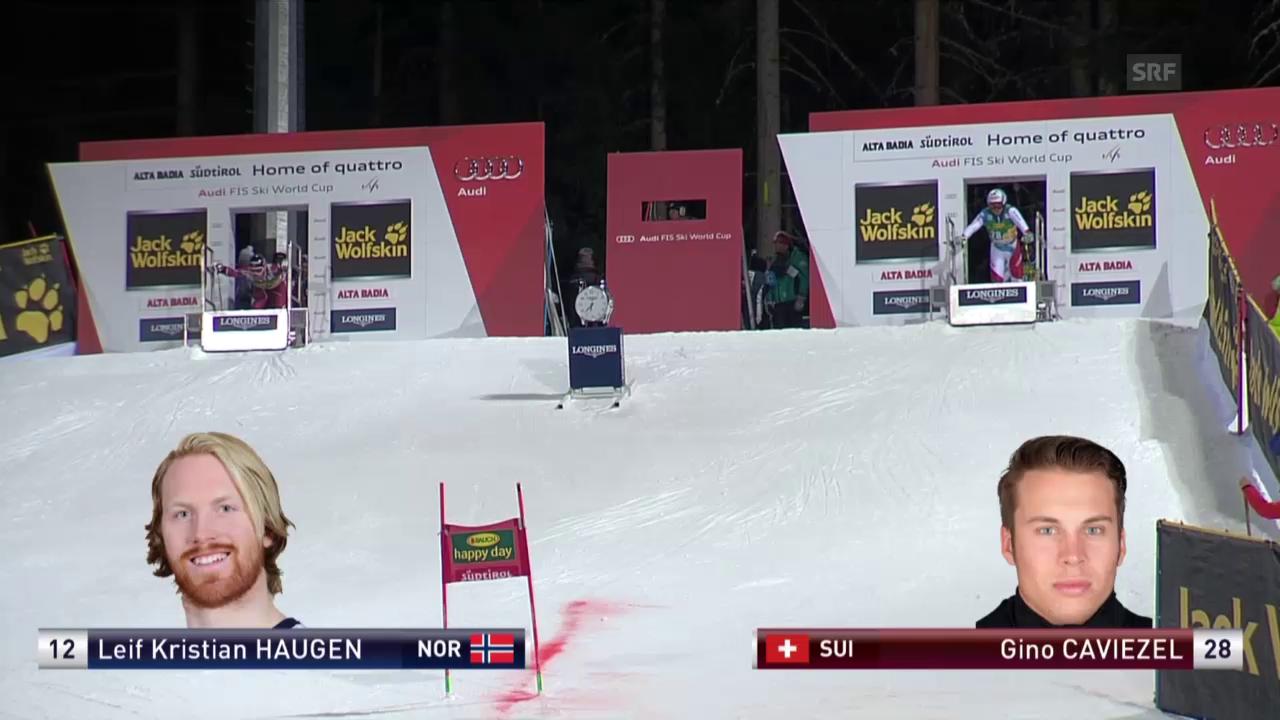 Ski: Parallel-RS, Alta Badia, Achtelfinal Caviezel-Haugen