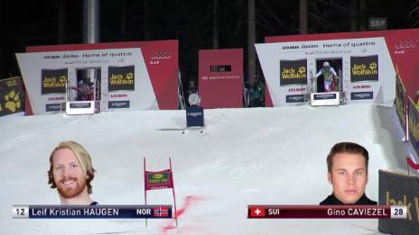 Video «Ski: Parallel-RS, Alta Badia, Achtelfinal Caviezel-Haugen» abspielen