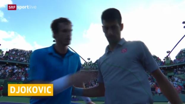 Video «Tennis: ATP Miami, Halbfinal Djokovic-Murray» abspielen