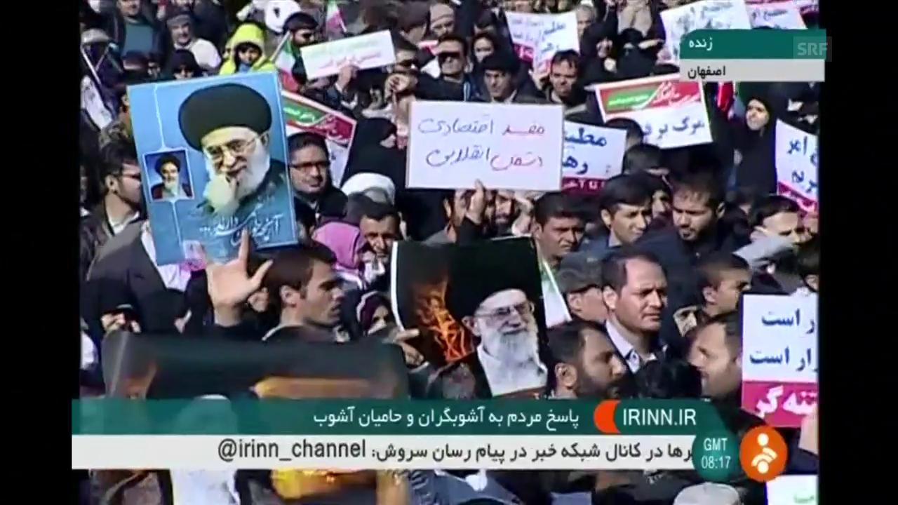 Proteste im Iran am 4. Januar, bestätigt durch AFP