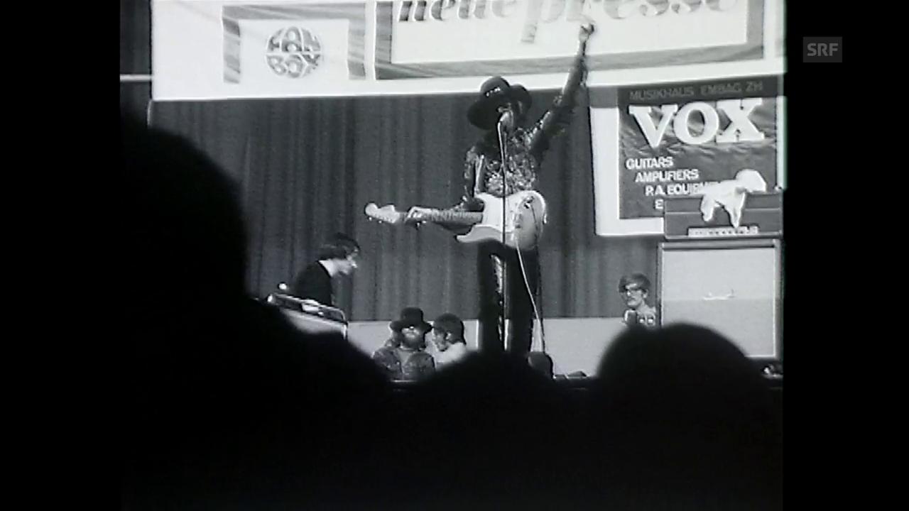 Jimi Hendrix spielt in Zürich
