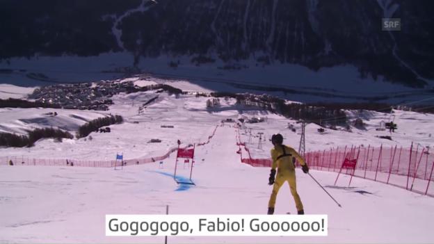 Video «WM-Riesenslalom: Fabio Nay fährt 1:38:04!» abspielen