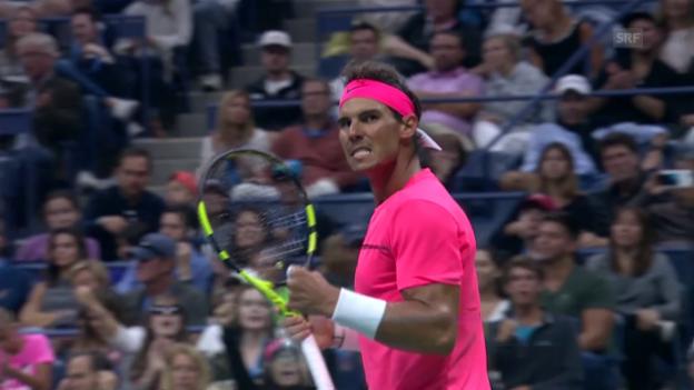 Video «Entscheidende Punkte bei Nadal-Mayer» abspielen