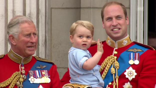 Video «Auch auf dem Balkon machte George gute Figur» abspielen