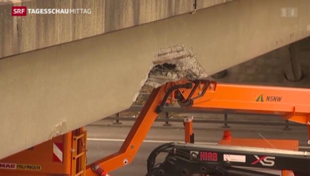 Video «Verkehrsunfall auf A1» abspielen