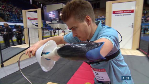 Video «Cybathlon: Der erste Armprothesen-Qualifikationslauf» abspielen
