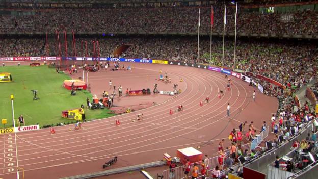 Video «Leichtathletik WM: 4-mal 100 m Frauen Staffel Final» abspielen