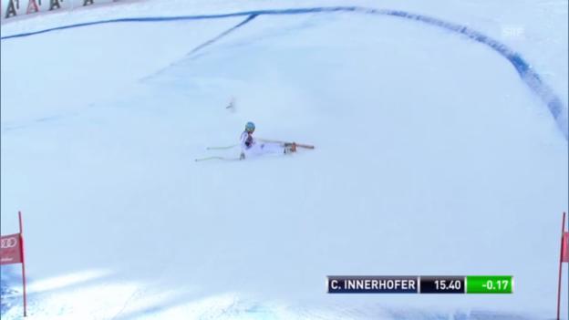 Video «Ski: Innerhofers Sturz im 3. Training von Kitzbühel» abspielen