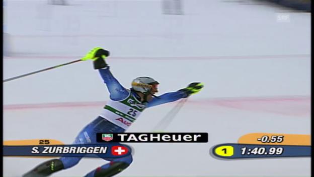 Video «Ski-WM 2003: Silvan Zurbriggen holt sensationell Silber im Slalom» abspielen