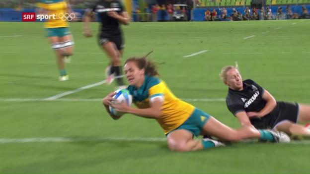 Video «Australiens Frauen gewinnen Premiere im 7er-Rugby» abspielen