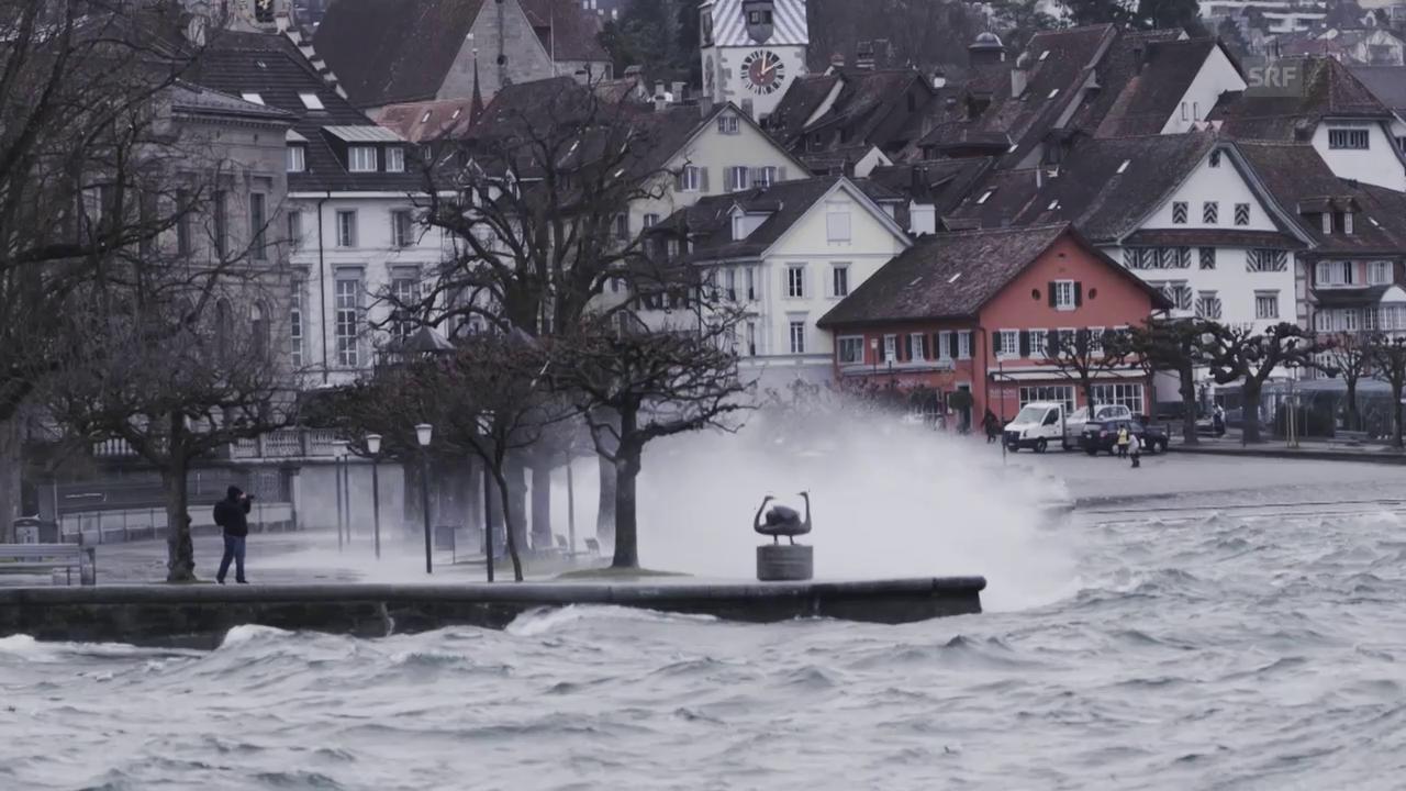 Sturm über dem Zuger See (SRF-Augenzeuge / Valentin Studerus)