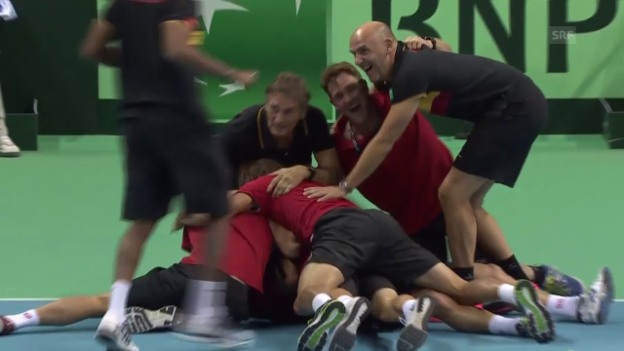 Video «Tennis: Davis Cup, BEL-ARG» abspielen