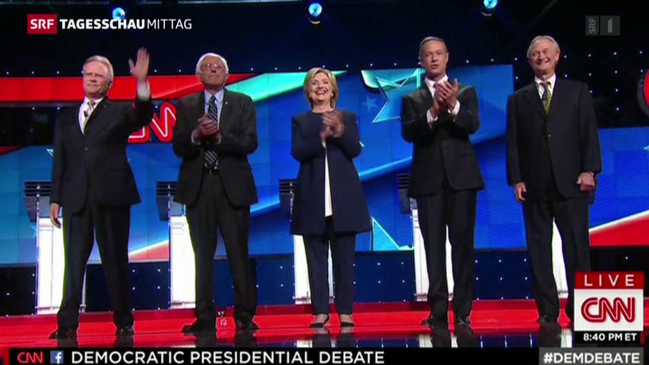 Clinton als Siegerin der TV-Debatte