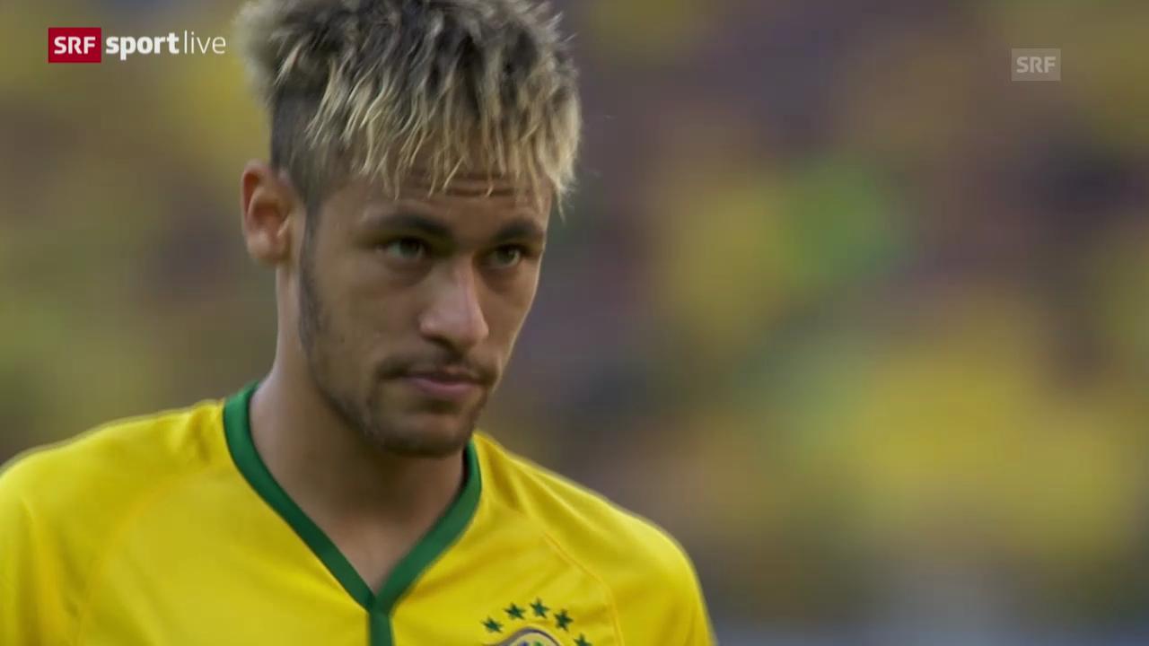 Fussball: Neymars Penalty gegen Chile
