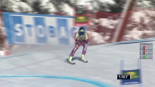 Video «Ski: Super-G Lake Louise, Fahrt von Jansrud» abspielen